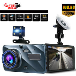 Fit Car Vehicle Dash Camera 1080p HD Front Dashboard Security Recorder Camcorder