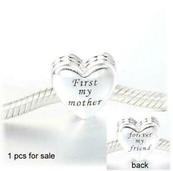 Authentic Pandora 🌺 silver bead Charm mother & friend 791518 heart love mom