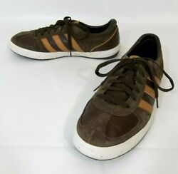 Adidas Brown Suede Leather Lace Up Casual Tennis Shoe Men's Size 12 *GUC*