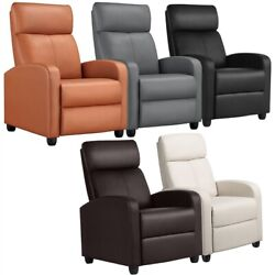 Recliner Chair Single Modern Reclining Sofa  Home Theater Seating Club Chair