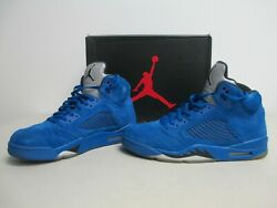 "Nike Air Jordan 5 Retro ""Blue Suede"" Style # 136027-401 Size 12"