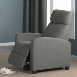 Fabric Recliner Chair Single Modern Sofa Home Theater Seating for Living Room $152.99