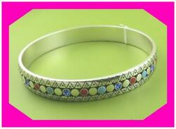 BRIGHTON AFRICA STORIES MULTI COLORFUL Bead BANGLE Bracelet NWtag $58
