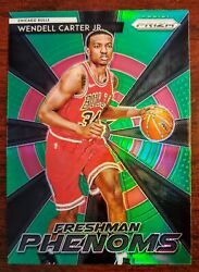 Wendall Carter Jr Green Parallel 2018-19 Panini Prizm Freshman Phenoms Rookie