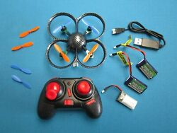 HKING RTF MICRO QUADCOPTER 6 AXIS 4CH LEDS FLIPS W CHARGER amp; 2 UPGRADED LIPOS RC $18.95