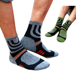 2 Pairs Women Men Socks Anti Blister Breathable Hiking Running Compression Socks $10.49