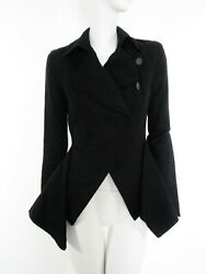 STUNNING WOMEN ALL SAINTS BENEDICTA RIDING JACKET ASYMMETRIC ORIGAMI BLACK 8 VGC $156.38