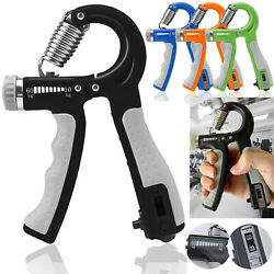 Hand Grip Strengthener Trainer Gripper Strength Gym Power Exerciser Adjustable