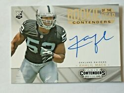 KHALIL MACK 2014 Panini Contenders  ROOKIE AUTOGRAPH ON CARD  Chicago Bears