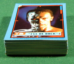 Terminator 2 Judgement Day Complete 44 Trading Card  Sticker Set Topps (1991)