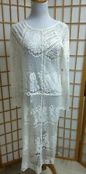 Free People Swim Lace Cover Up Off White EUC $24.99