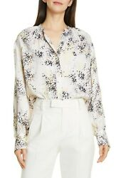 Equipment Causette Silk Shirt Ecru Multi M NWT $295