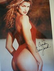SEXY & BEAUTIFUL SIGNED PHOTO SUPERMODEL CINDY CRAWFORD IN SWIMSUIT -COA