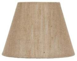 European Drum Style Chandelier Lamp Shade 6 Inch Natural Burlap Clips Onto Bu $10.99