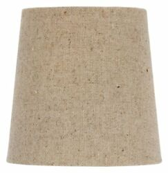 Chandelier Lamp Shade Clip on Shade 5 Inch Beige Linen Retro Drum Clips Onto $9.14