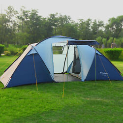 KingCamp Family Camping 6 Person Tents Waterproof Large Room Portable Outdoor