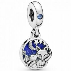 New 2019 Authentic Pandora Bead Fox and Rabbit  Charm 798239NMB