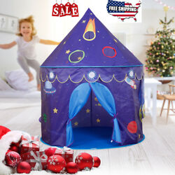 Pop Up Castle Playhouse Space Theme Little Prince Princess Tent Game House Gift