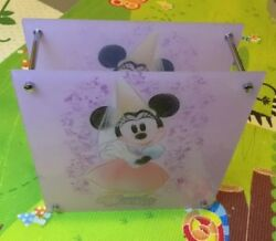 1 DISNEY MINNIE MOUSE NIGHT STAND LAMP LIGHT BOX BEDROOM TABLE GIRLS PINK $38.00