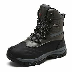 NORTIV 8 Men#x27;s Ankle Insulated Waterproof Winter Outdoor Hiking Snow Skii Boots $41.39