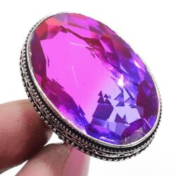Bi-Color Tourmaline 925 Sterling Silver Jewelry Ring Size-7 9101