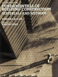 Fundamentals of Building Construction Materials and Methods 2nd Edition Textbook $13.49