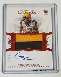 Gary Jennings Jr 2019 Flawless Football Collegiate Rookie 2 Clr Patch Auto #620
