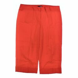 COURTENAY Women's  Capri Pants size 16  orange  cotton spandex