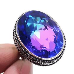 Bi-Color Tourmaline 925 Sterling Silver Jewelry Ring Size-7 8825