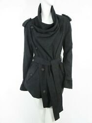 STUNNING WOMEN ALL SAINTS SAREDON NAHARA JACKET TRENCH COAT BRITISH WOOL GREY 10 $193.91