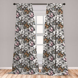 Floral Microfiber Curtains 2 Panel Set Living Room Bedroom in 3 Sizes $23.99