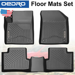 All-Weather Floor Mats Fit for 2016-2019 Jeep Cherokee Unique TPE Liners Black