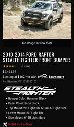 ADD Front Bumper F011052520103 10-14 SVT RAPTORAll ACCS Included Winch