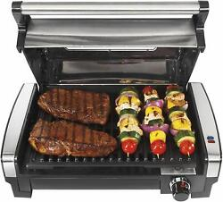 Electric Indoor Searing Grill with Viewing Window 6 Serving Stainless Steel $112.80