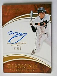 MANNY MACHADO 2016 Immaculate Collection AUTOGRAPH ON CARD SP 4799  Orioles