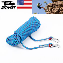 10 30M Static Rescue Rope Rock Climbing Rappelling Safety Cord W Carabiners $24.00