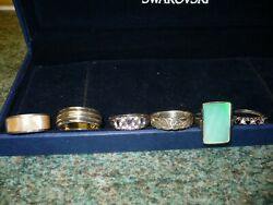 Job Lot **6** Gorgeous Vintage modern Hallmarked & Sterling silver rings