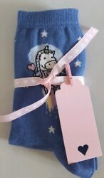 Blue Unicorn Star Socks with Ribbon and Gift Tag A Perfect Little Gift GBP 4.99