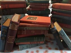 Lot of 10 Antique Vintage Books All Hardcover Rare Old Mixed Unsorted Decorative