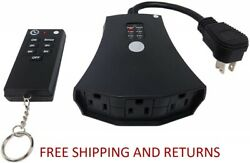 Outdoor Remote Control Outlets w Wireless Remote amp; Countdown Timer Weatherproof $19.99