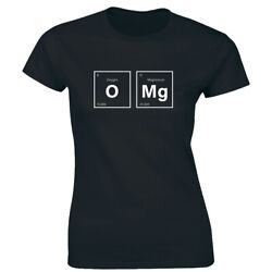 OMG with Elements Oxygen Magnesium T Shirt for Women Funny Science Chemistry Tee $12.42