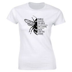 You Cannot Withstand The Storm I Am The Storm with Bee Image T Shirt for Women $12.10