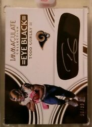 TODD GURLEY 2016 IMMACULATE COLLECTION EYE BLACK GOLD AUTO AUTOGRAPH 99 RAMS