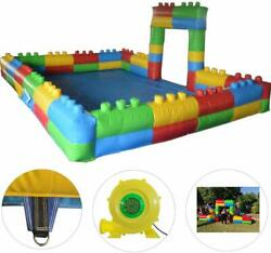 Inflatable Pit Inflatable Playground with PVC Mat for Kids Outdoor Indoor Play