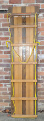 Vintage Adirondack Two tone 6 Foot Wooden Toboggan For Rustic Room Decoration $249.95