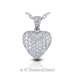 6ct tw F VS2 Round Cut Natural Earth Mined Certified Diamonds 14K Gold Pendant