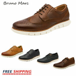 Bruno Marc Mens Genuine Leather Shoes Casual Lace Up Business Dress Oxford Shoes $41.79