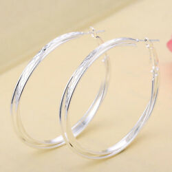 Elegant Dreamy Concise  Women Wedding Jewelry 925 Silver Engagement Earring