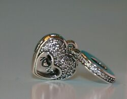 NWT Authentic Pandora Silver I Love My Mom Clear CZ Charm #792071CZ