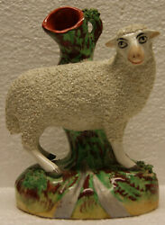 Early Staffordshire Sheep or Lamb Spill Vase